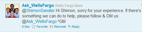 Wells Fargo reply