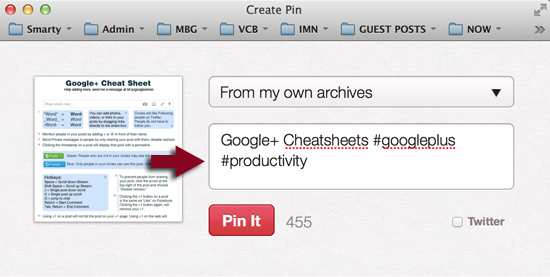 hashtag in in a #Pinterest description