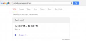Google Adds Calendar Functionality in SERP